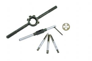 3 BA 3 Piece Tap Taps Set, 3 BA Die, Tap Wrench & Die Holder to Suit. M9204